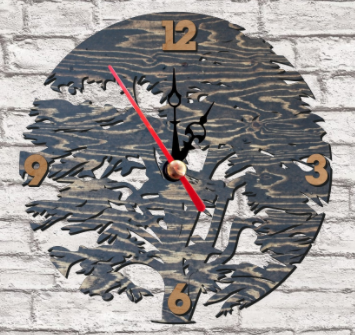 Laser Cut Tree Clock