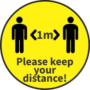 Covid-Keep Your Distance Stickers